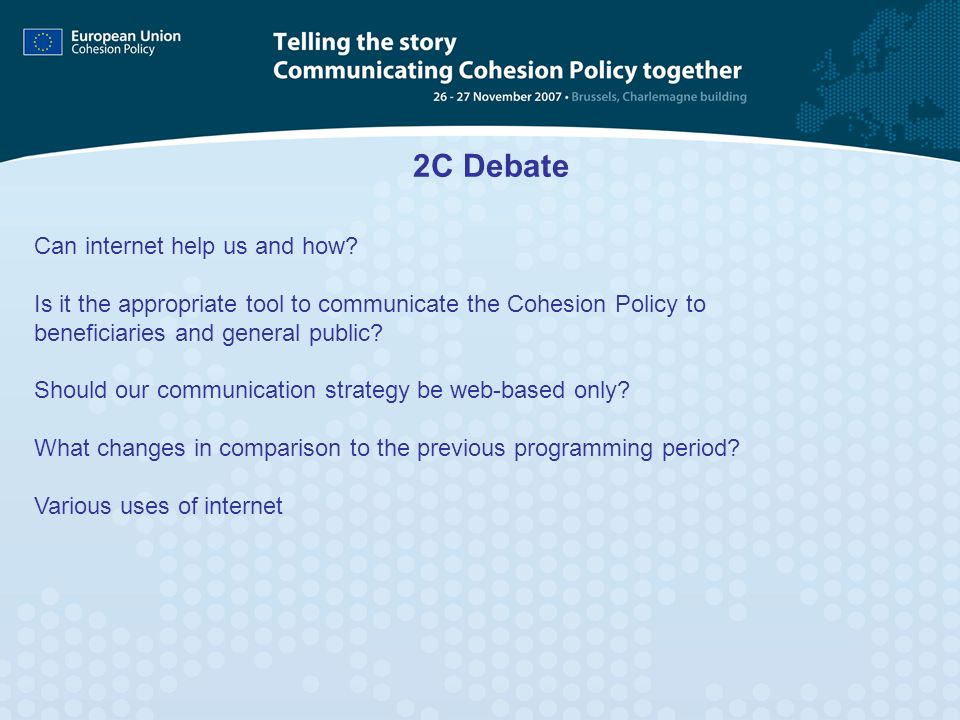2C Debate Can internet help us and how