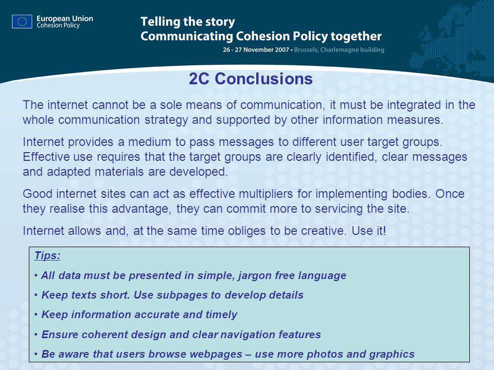 2C Conclusions
