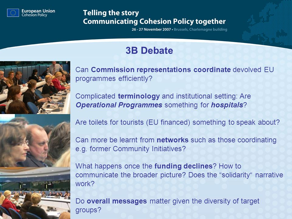 3B Debate Can Commission representations coordinate devolved EU programmes efficiently