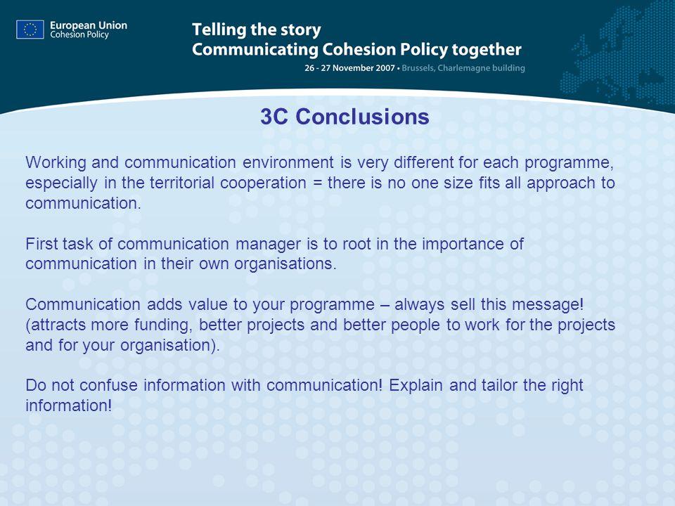 3C Conclusions