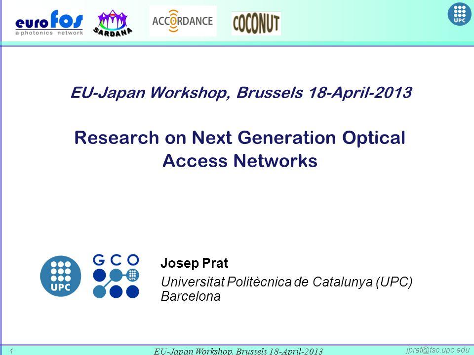 Josep Prat Universitat Politècnica de Catalunya (UPC) Barcelona