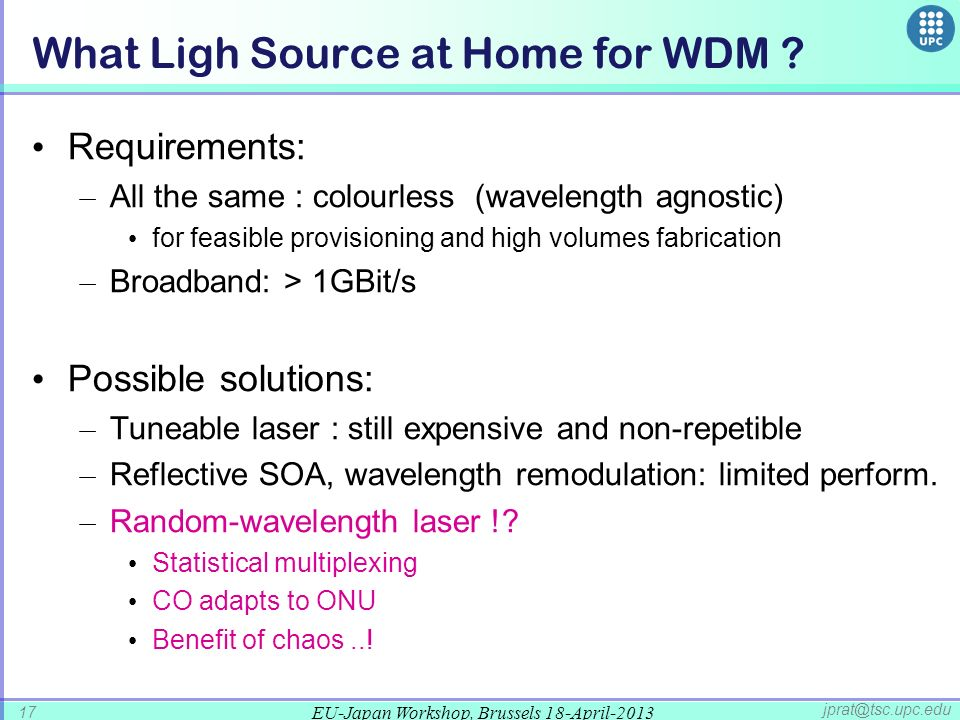 What Ligh Source at Home for WDM