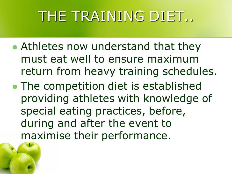 SPORTS NUTRITION.