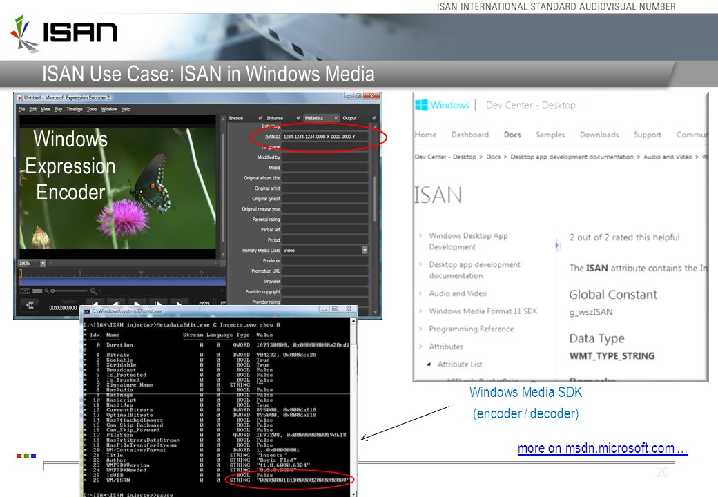 ISAN Use Case: ISAN in Windows Media