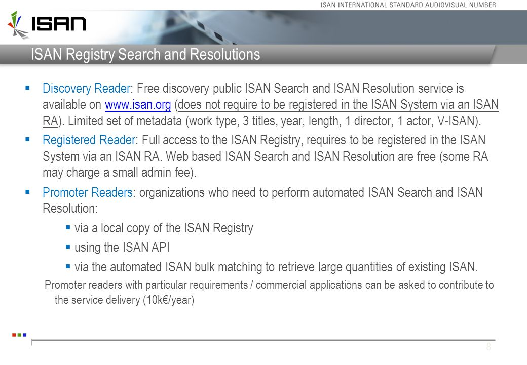 ISAN Registry Search and Resolutions