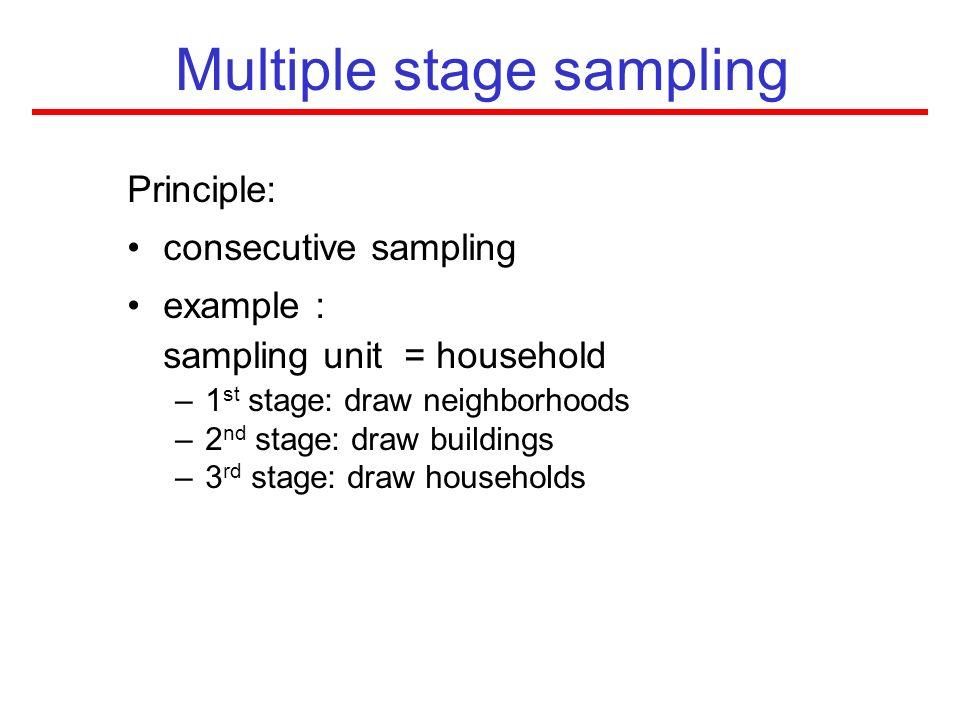 Multiple stage sampling