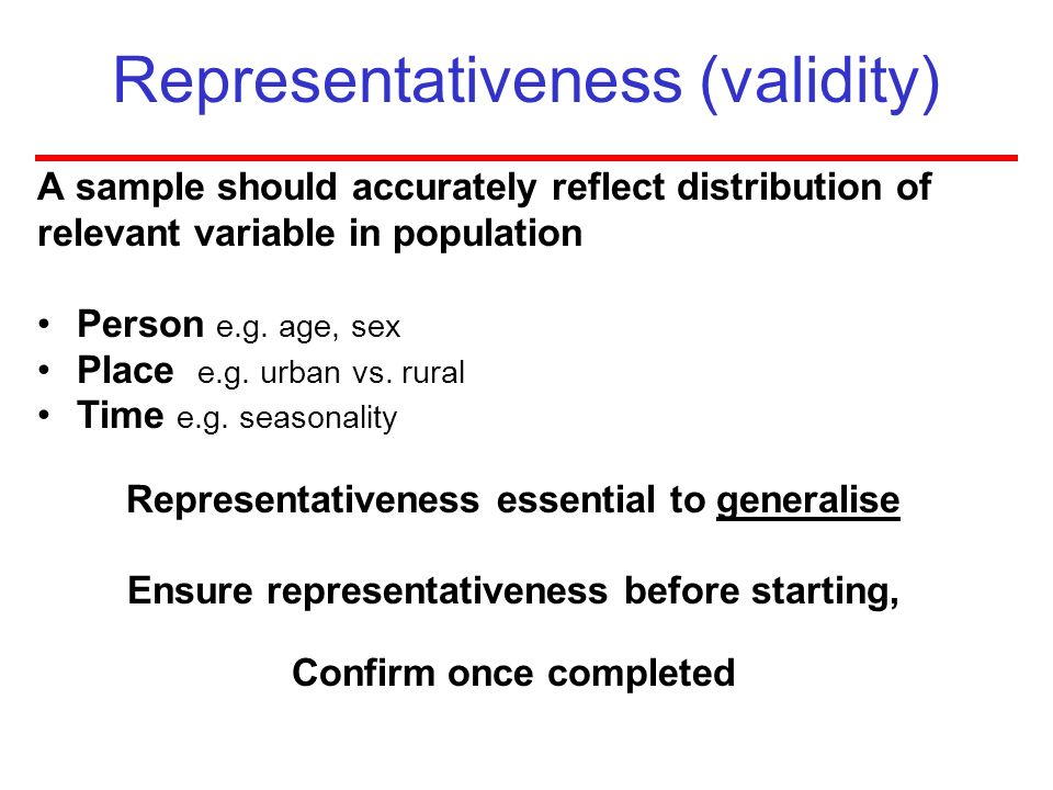 Representativeness (validity)