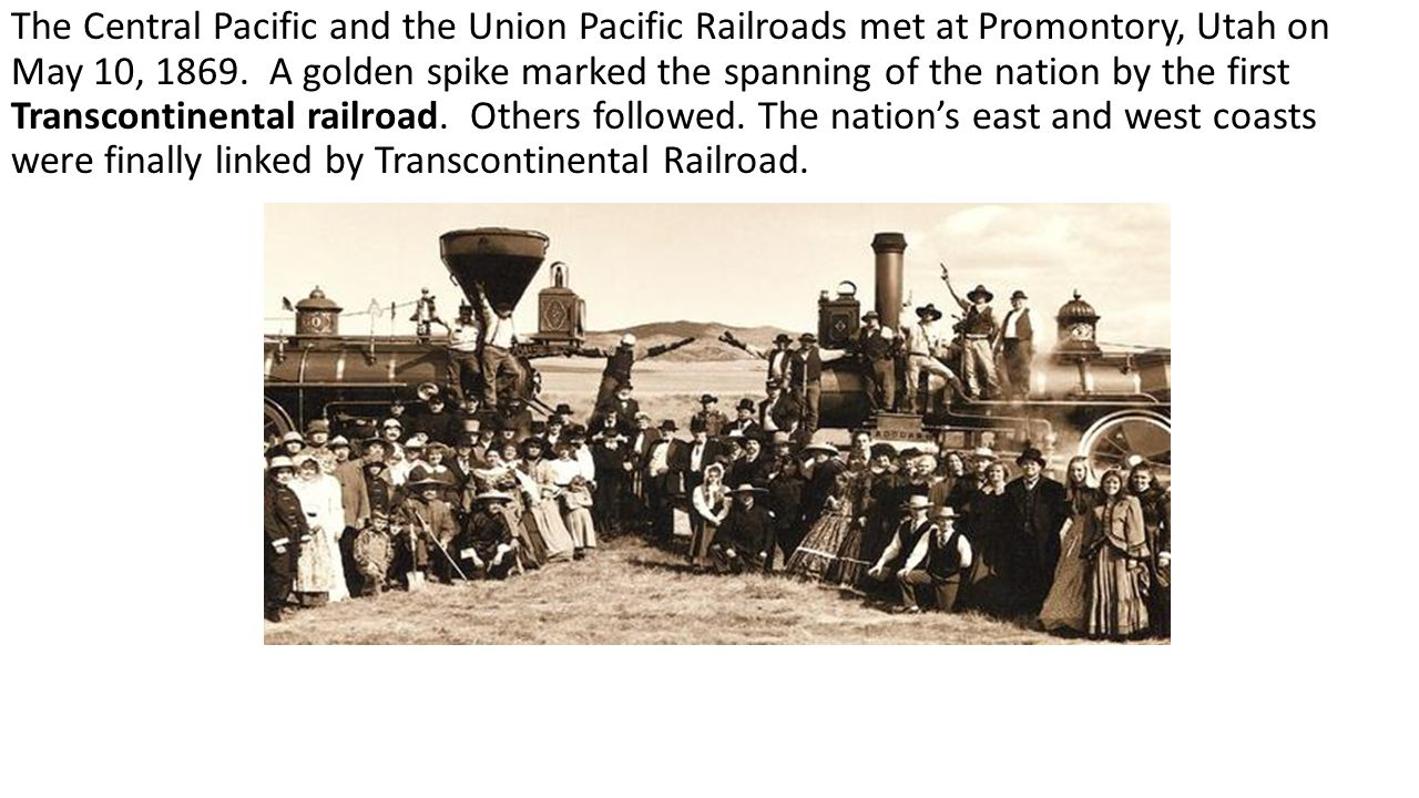 where did the union and pacific railroad meet