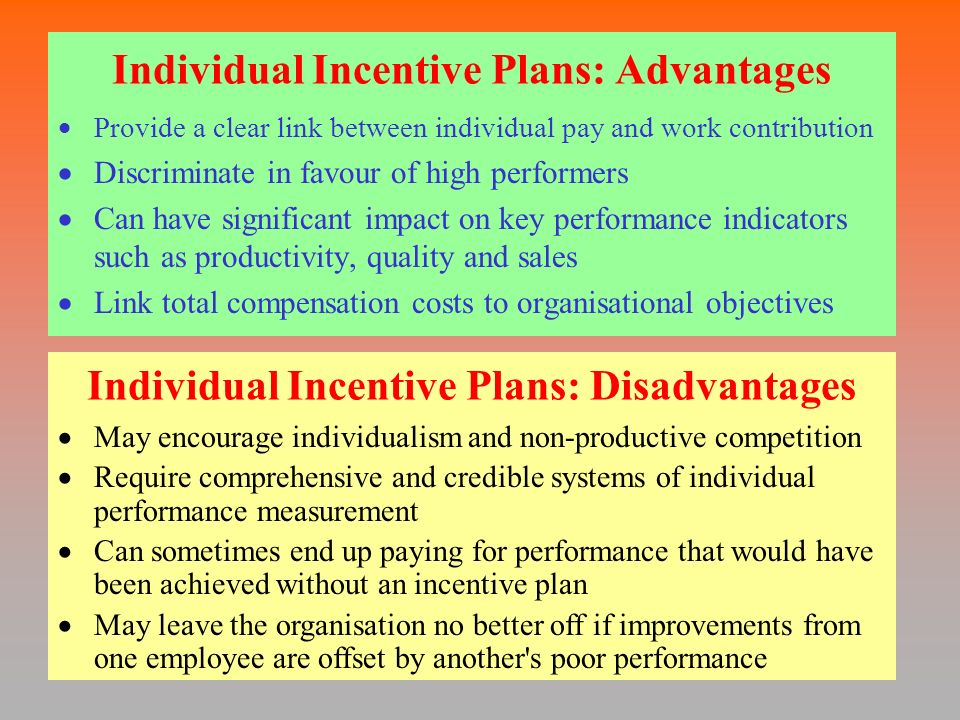 better and incentive plans 5 employee incentives that actually work  employees tend to work better when they feel a sense of accomplishment,.