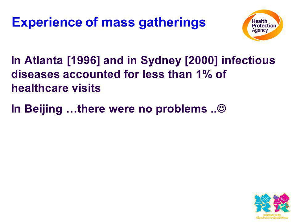 Experience of mass gatherings