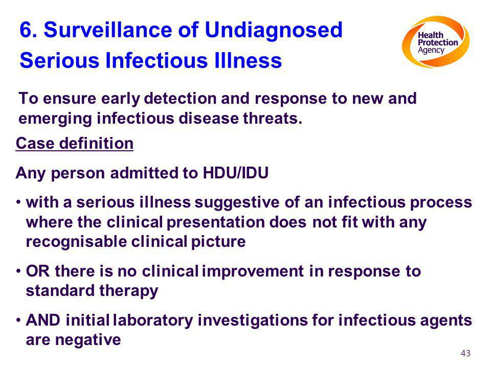 6. Surveillance of Undiagnosed Serious Infectious Illness
