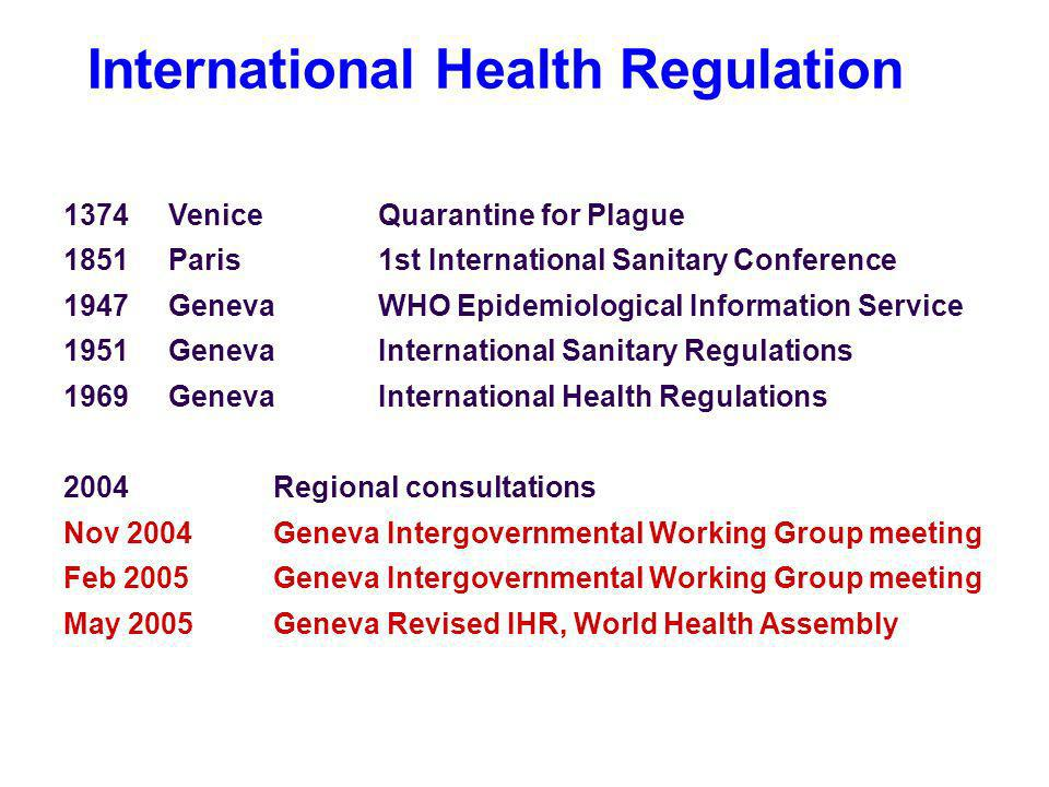 International Health Regulation