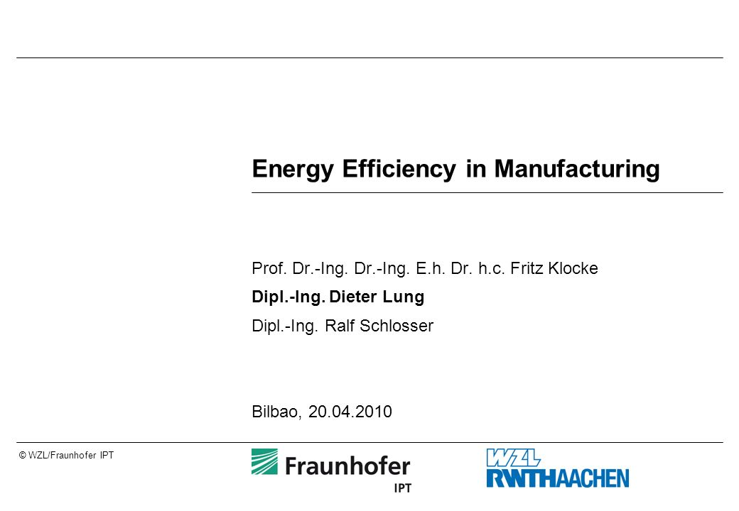 Energy Efficiency in Manufacturing