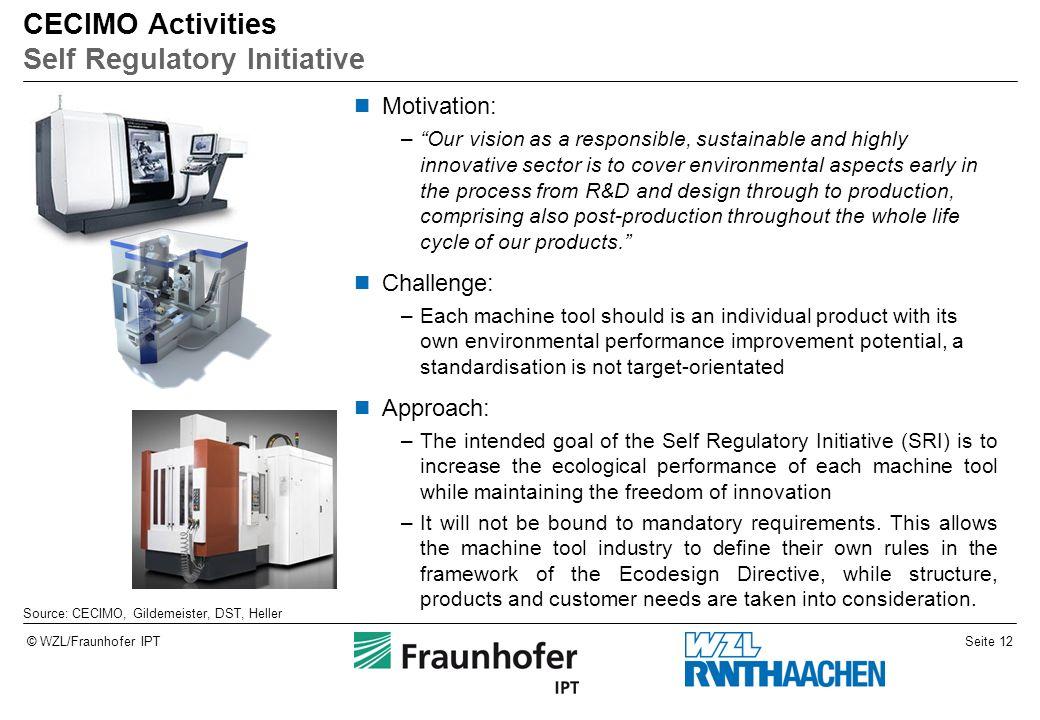 CECIMO Activities Self Regulatory Initiative