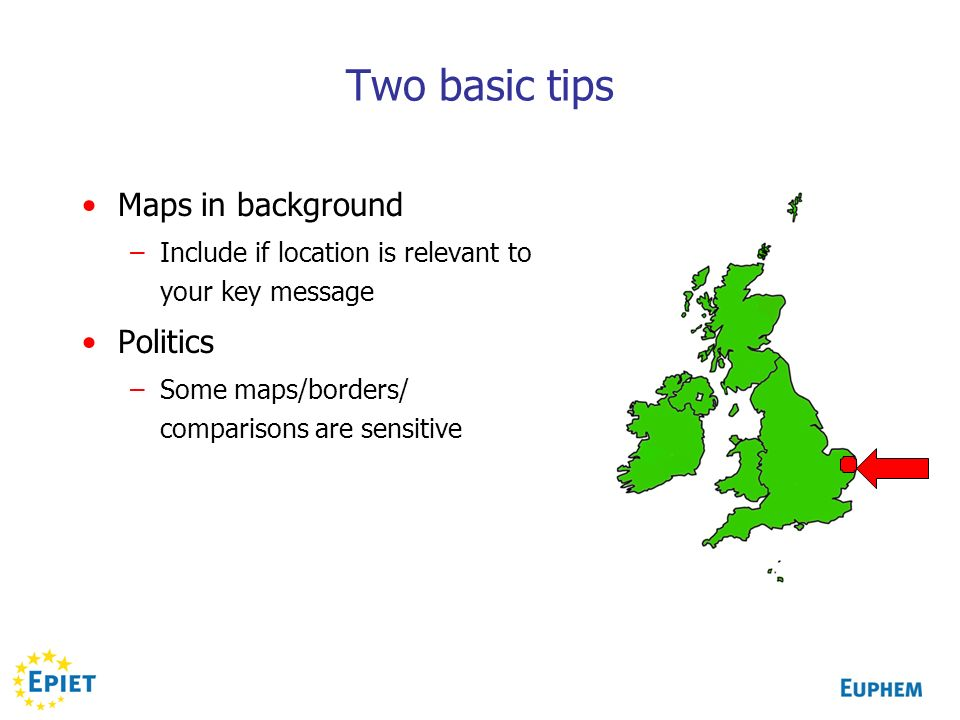 Two basic tips Maps in background Politics