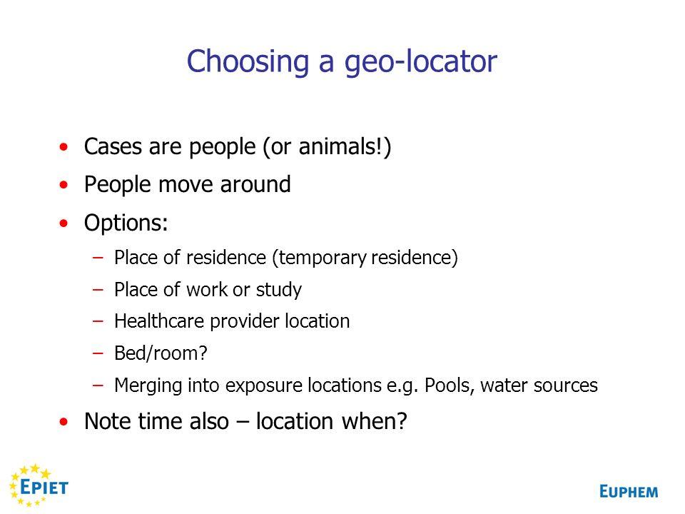 Choosing a geo-locator