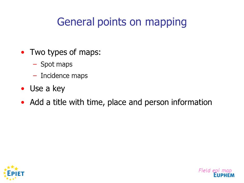 General points on mapping