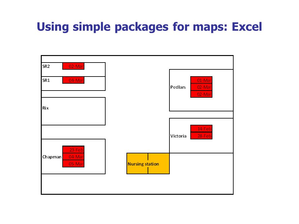Using simple packages for maps: Excel