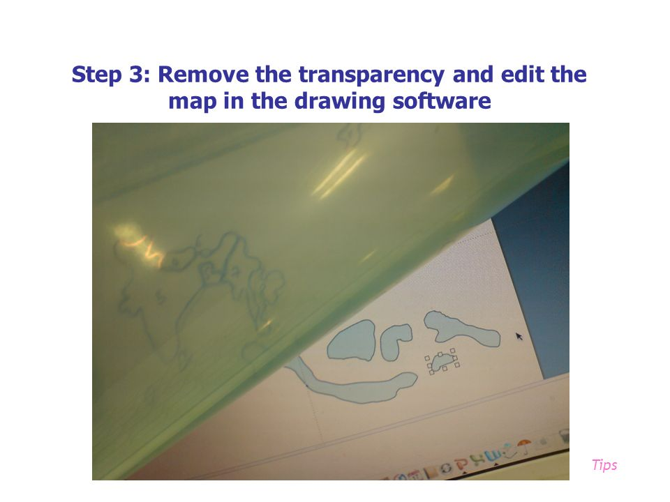 Step 3: Remove the transparency and edit the map in the drawing software