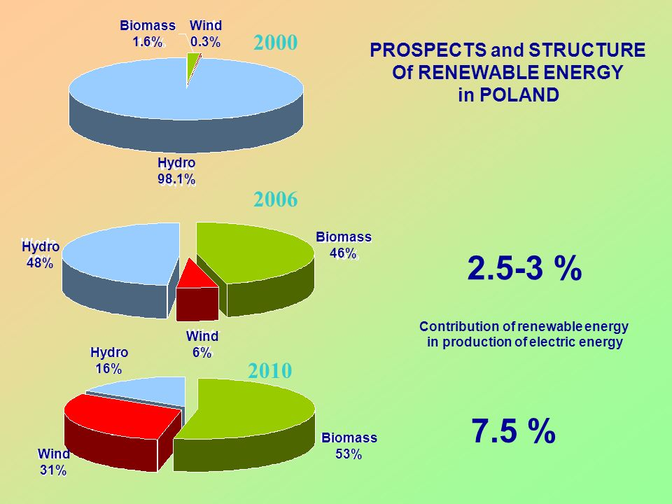 2.5-3 % 7.5 % 2000 2006 2010 PROSPECTS and STRUCTURE