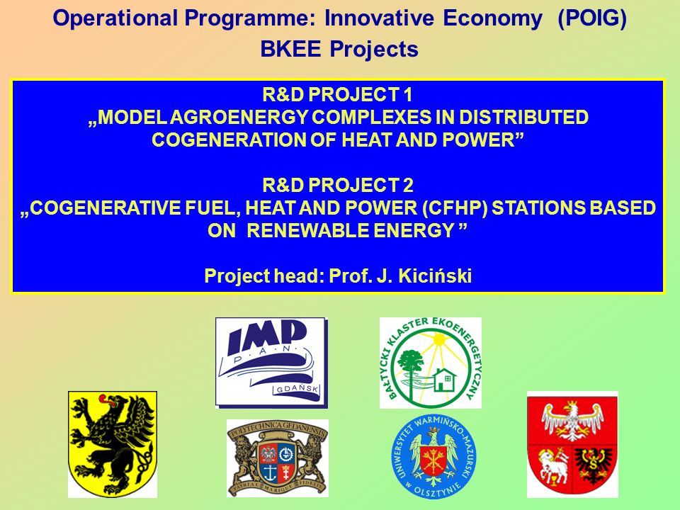 Operational Programme: Innovative Economy (POIG) BKEE Projects