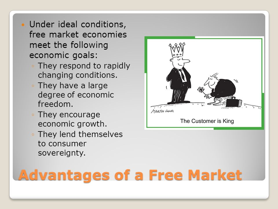 The advantages of a free market economy