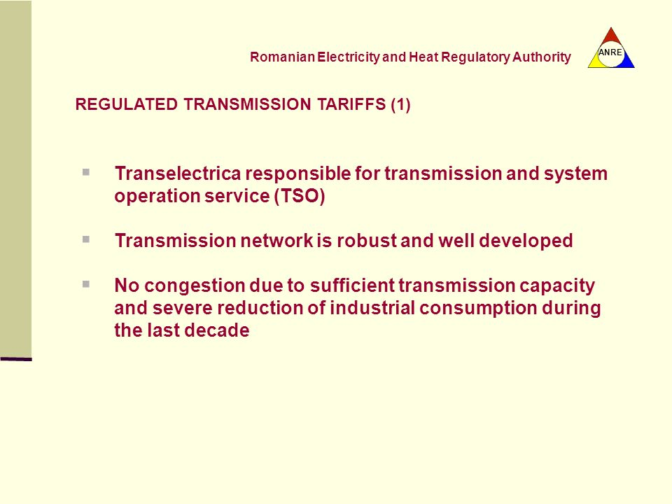 Transmission network is robust and well developed