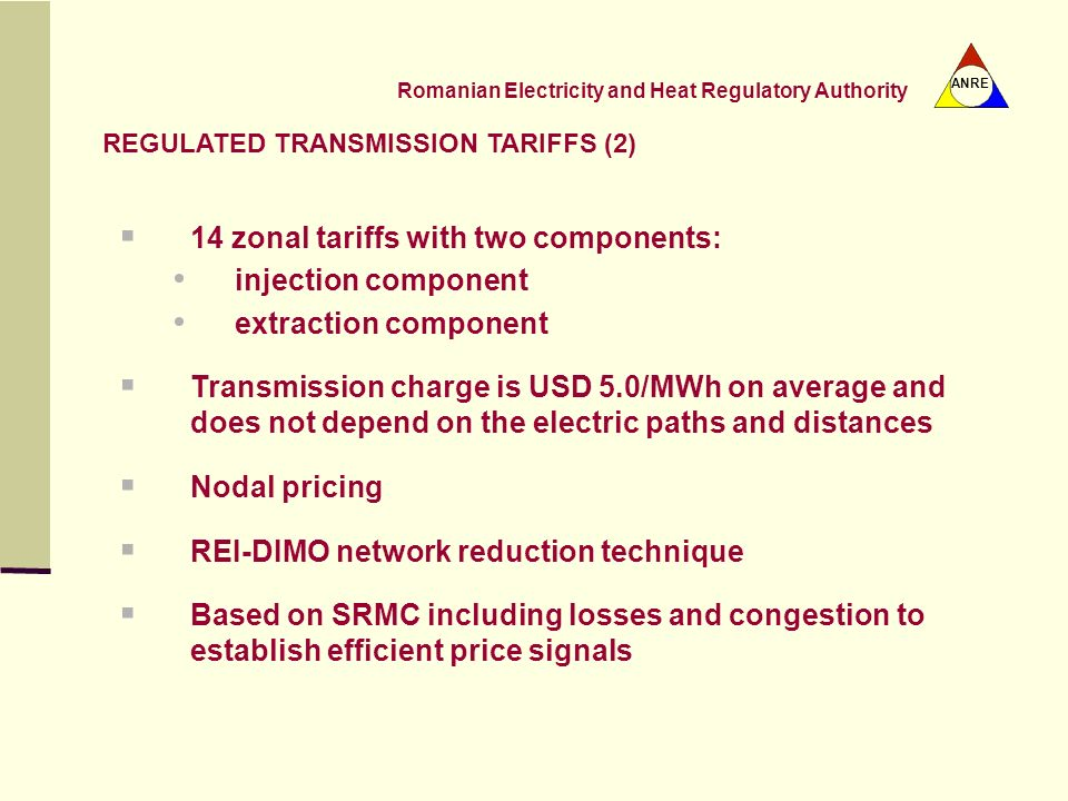 REGULATED TRANSMISSION TARIFFS (2)