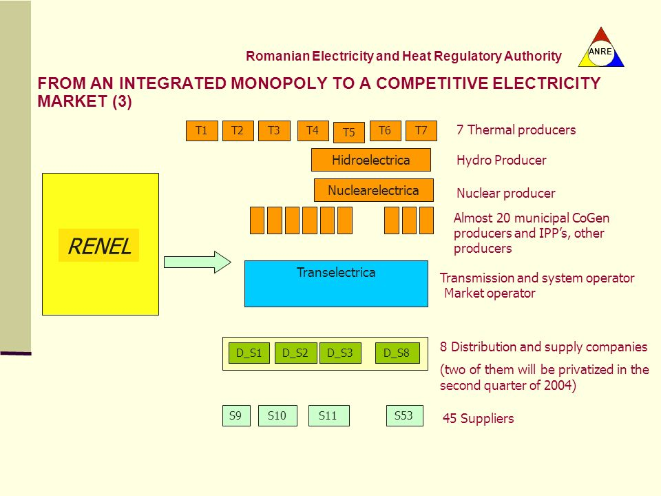 FROM AN INTEGRATED MONOPOLY TO A COMPETITIVE ELECTRICITY MARKET (3)