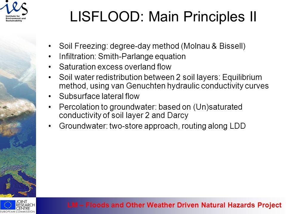 LISFLOOD: Main Principles II