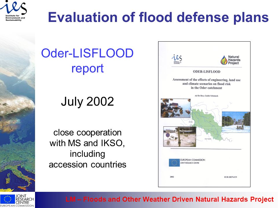 Evaluation of flood defense plans