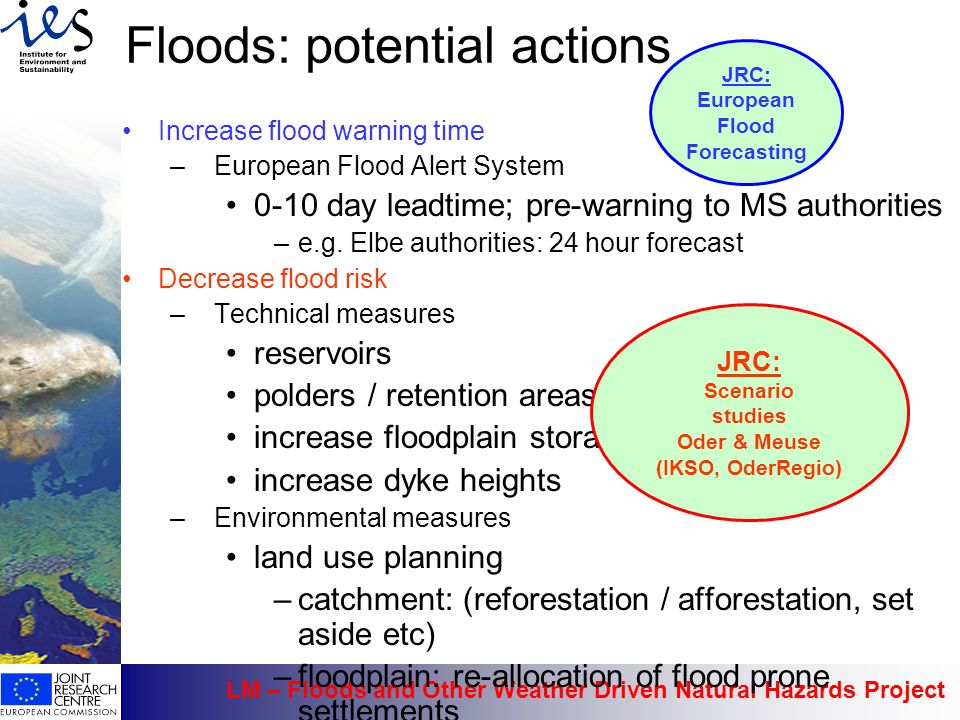 Floods: potential actions