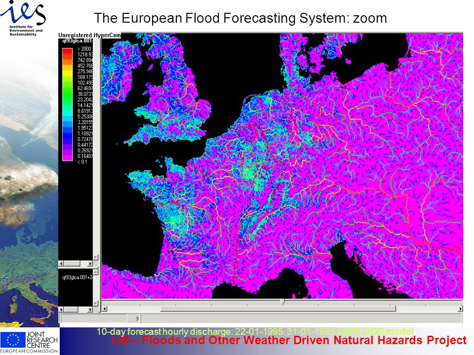 The European Flood Forecasting System: zoom