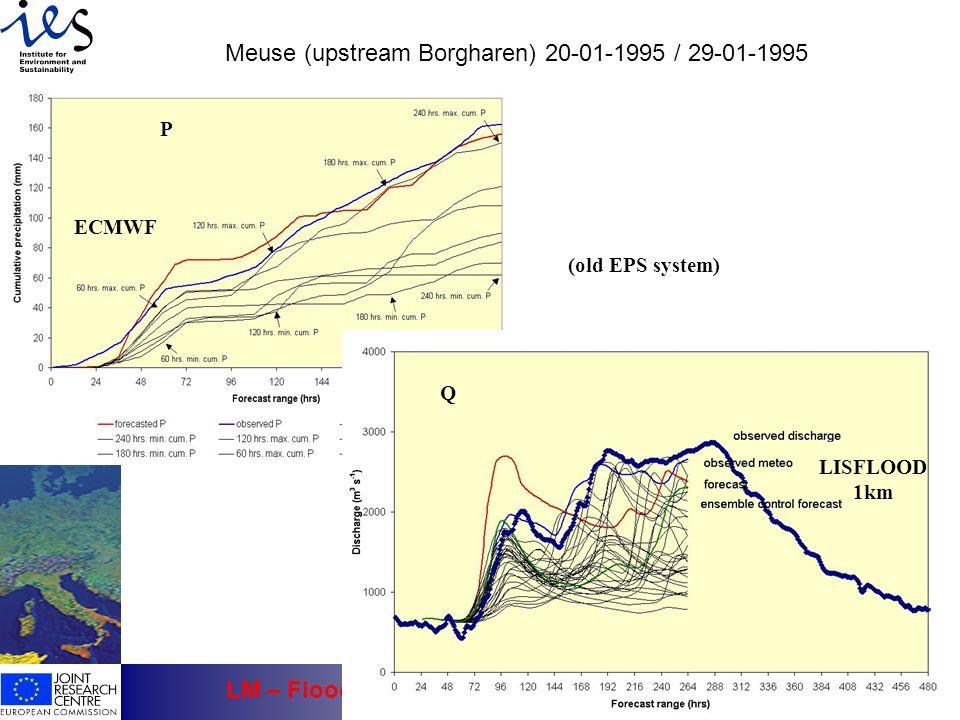 Meuse (upstream Borgharen) 20-01-1995 / 29-01-1995