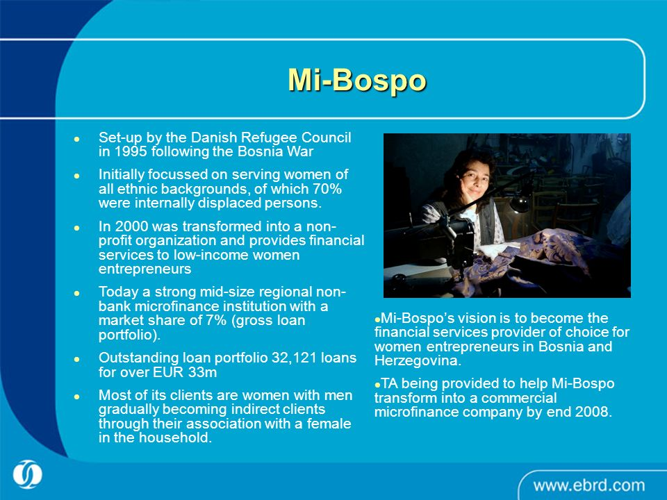 Mi-Bospo Set-up by the Danish Refugee Council in 1995 following the Bosnia War.