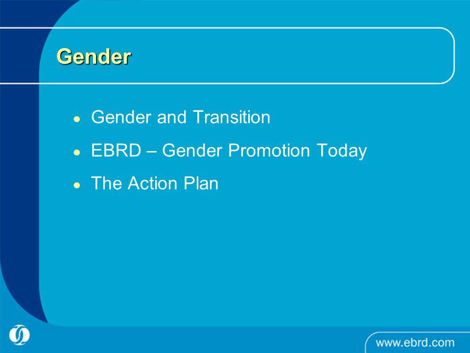 Gender Gender and Transition EBRD – Gender Promotion Today