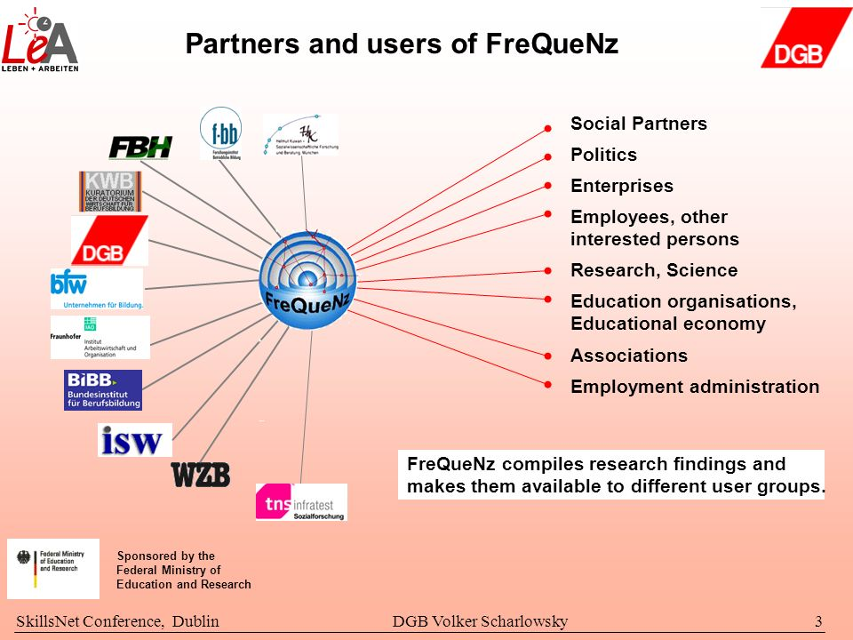 Partners and users of FreQueNz