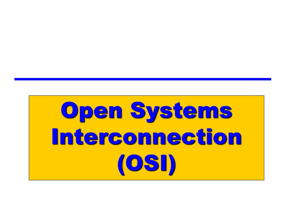 open systems interconnection osi essay Application layer and applications - the interface between the networks osi and tcp/ip model the open systems interconnection reference model is a layered, abstract representation created as a guideline for network protocol design.