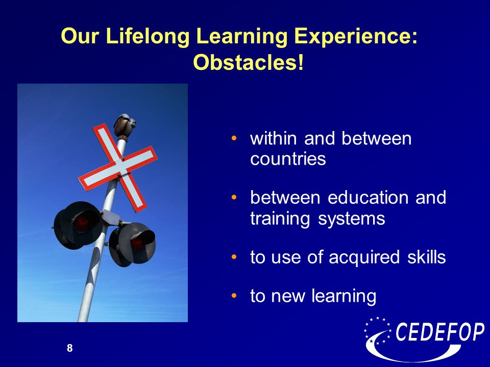 Our Lifelong Learning Experience: Obstacles!
