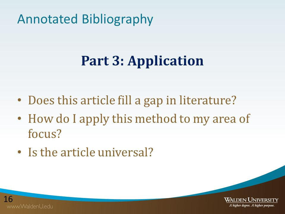 annotated bibliography dissertations