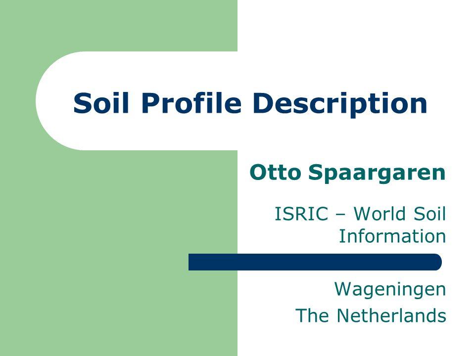Soil Profile Description