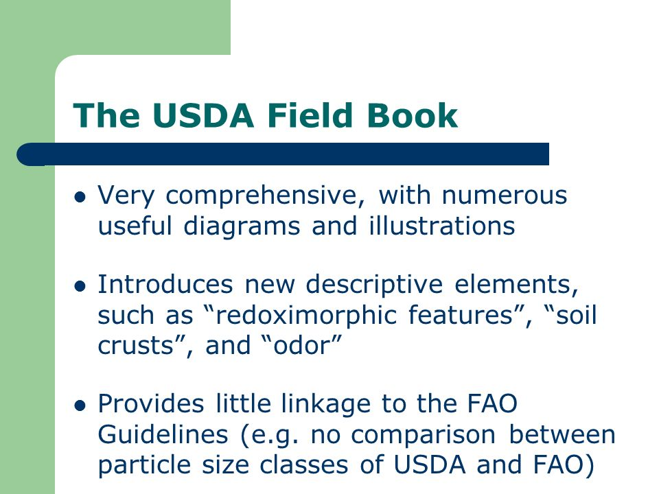 The USDA Field Book Very comprehensive, with numerous useful diagrams and illustrations.