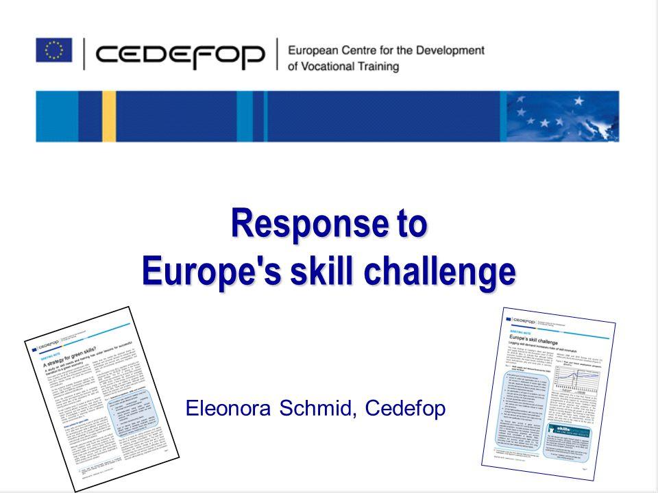 Response to Europe s skill challenge