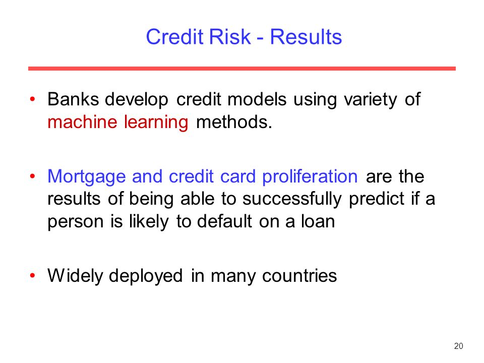 credit risk in banks Effective credit risk management process is a way to manage portfolio of credit facilities credit risk management  rbi expectations from banks on credit risk.