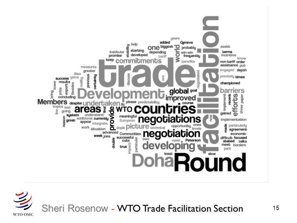 Sheri Rosenow - WTO Trade Facilitation Section