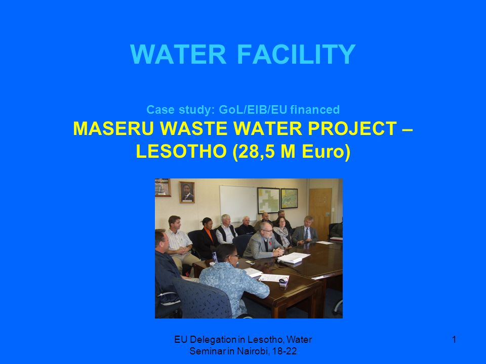 EU Delegation in Lesotho, Water Seminar in Nairobi, 18-22