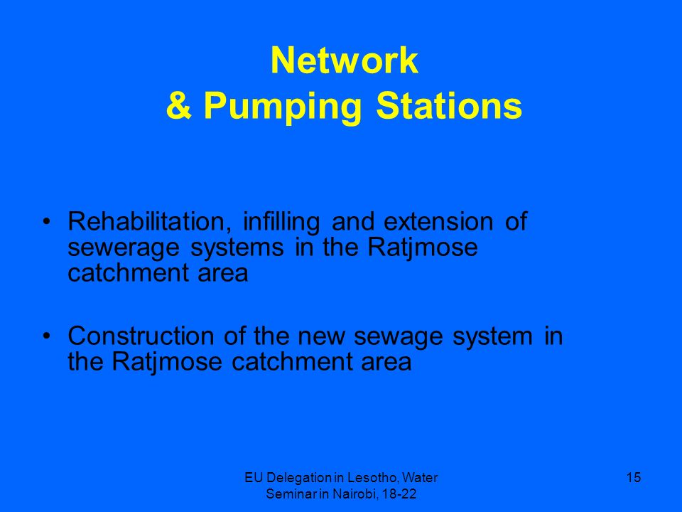 Network & Pumping Stations