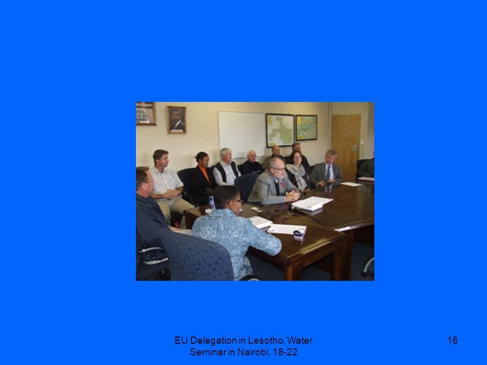 EU Delegation in Lesotho, Water Seminar in Nairobi, 18-22