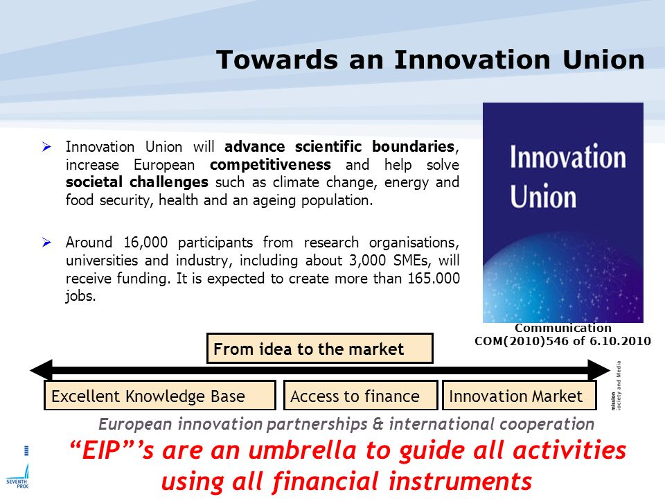 Towards an Innovation Union