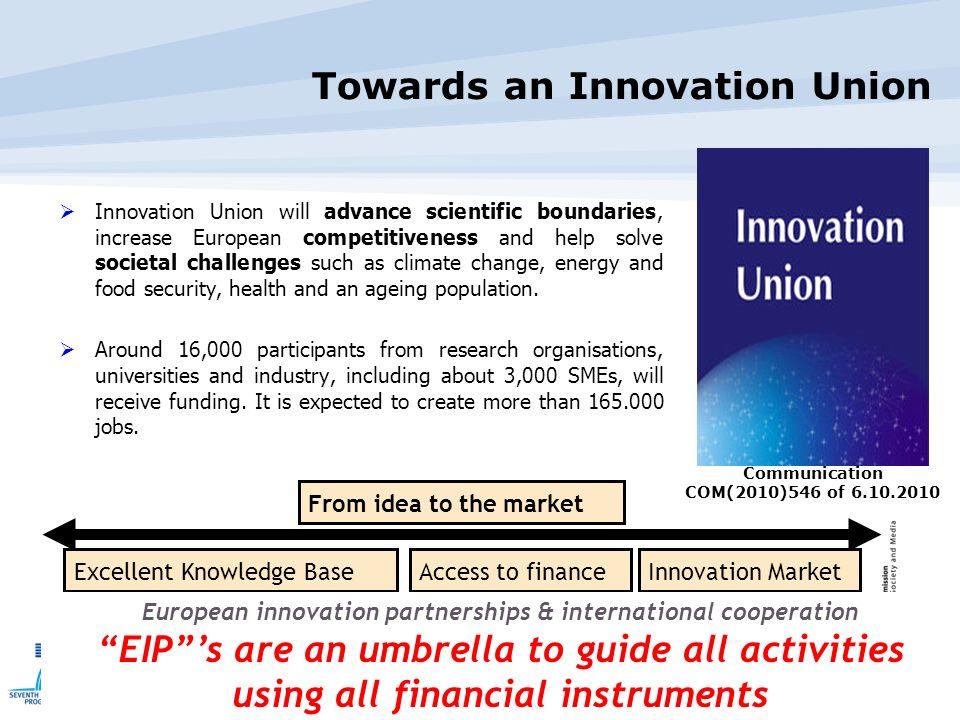 Towards an Innovation Union